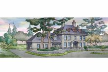 Classical Exterior - Front Elevation Plan #928-240