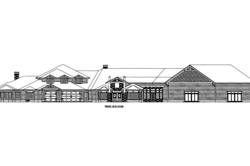 Home Plan - Craftsman Exterior - Front Elevation Plan #117-699