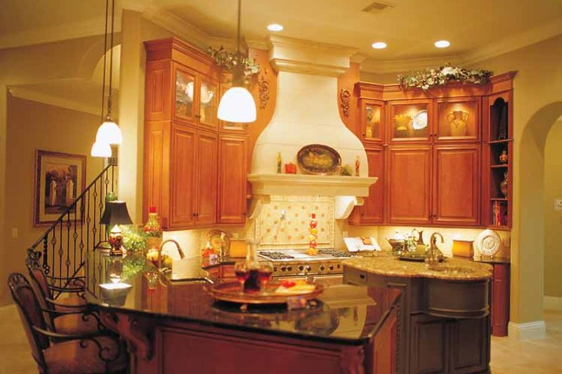 Mediterranean Interior - Kitchen Plan #417-566 - Houseplans.com