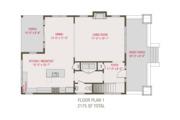 Craftsman Style House Plan - 3 Beds 2.5 Baths 2175 Sq/Ft Plan #461-68 Floor Plan - Main Floor Plan