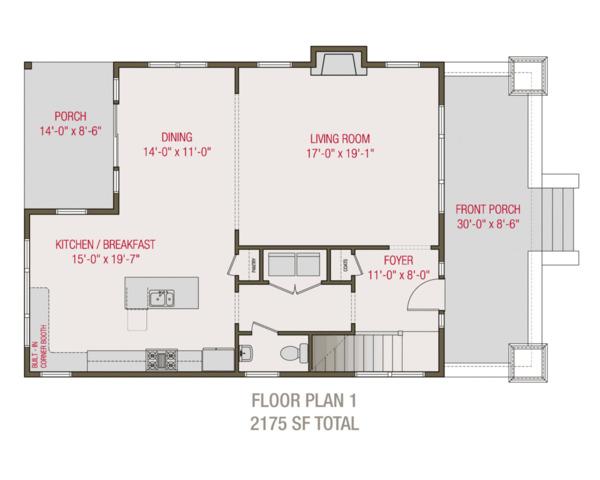 Craftsman Floor Plan - Main Floor Plan Plan #461-68