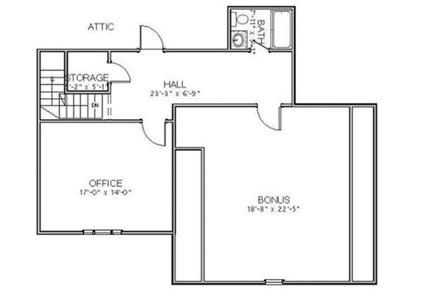 Country Floor Plan - Upper Floor Plan Plan #898-35