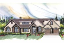 Country Exterior - Front Elevation Plan #509-385