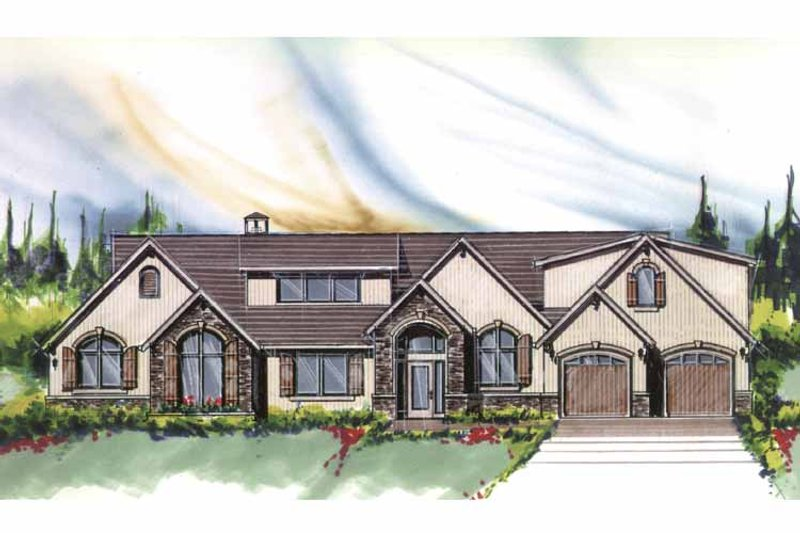 Country Exterior - Front Elevation Plan #509-385 - Houseplans.com