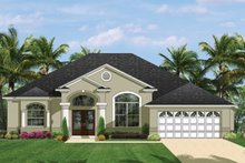 Mediterranean Exterior - Front Elevation Plan #1058-39