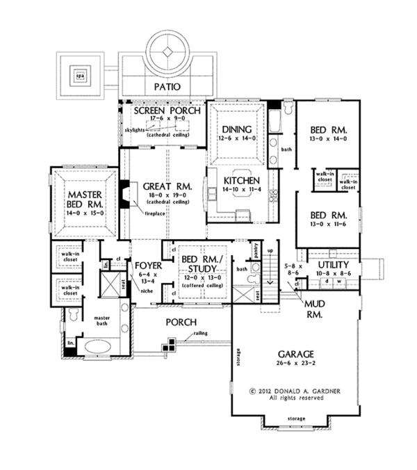 Traditional Floor Plan - Other Floor Plan Plan #929-963