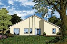House Plan Design - Mediterranean Exterior - Rear Elevation Plan #417-823