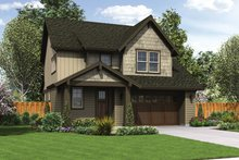 Architectural House Design - Craftsman Exterior - Front Elevation Plan #48-906
