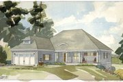 Craftsman Style House Plan - 3 Beds 2.5 Baths 3435 Sq/Ft Plan #928-82 Exterior - Front Elevation