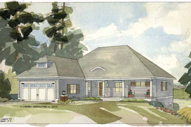 Craftsman Exterior - Front Elevation Plan #928-82