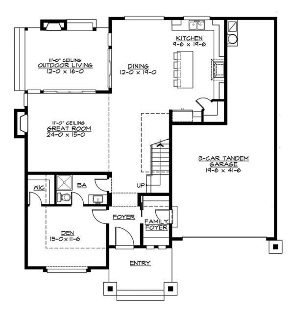Contemporary Floor Plan - Main Floor Plan Plan #132-564