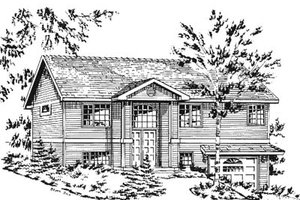 Traditional Exterior - Front Elevation Plan #18-196