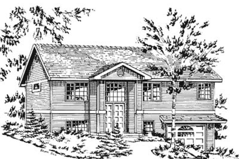 Traditional Style House Plan - 3 Beds 2 Baths 1098 Sq/Ft Plan #18-196 Exterior - Front Elevation