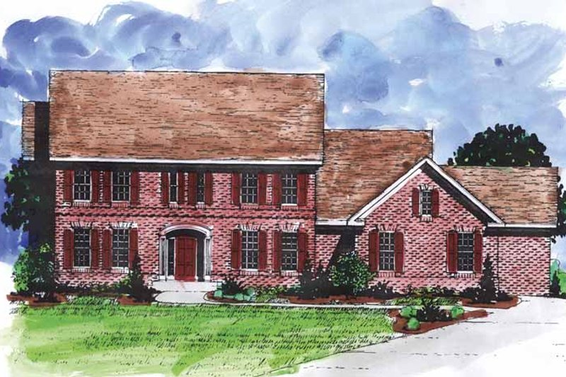 Dream House Plan - Colonial Exterior - Front Elevation Plan #320-896