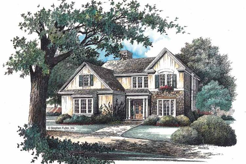 House Plan Design - Country Exterior - Front Elevation Plan #429-97