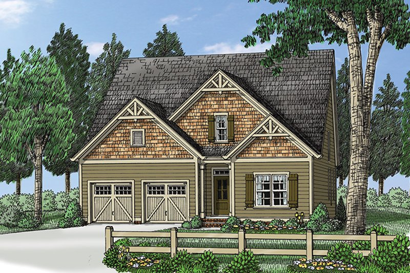 Architectural House Design - Traditional Exterior - Front Elevation Plan #927-971
