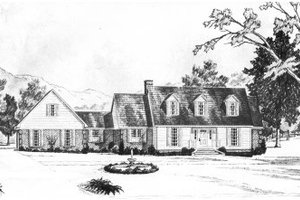 Colonial Exterior - Front Elevation Plan #36-296