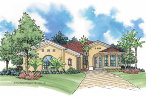 Home Plan - Mediterranean Exterior - Front Elevation Plan #930-386