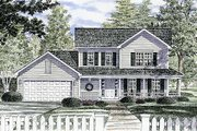 Traditional Style House Plan - 3 Beds 1.5 Baths 1576 Sq/Ft Plan #316-117 Exterior - Front Elevation