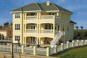 Mediterranean Style House Plan - 3 Beds 3.5 Baths 2374 Sq/Ft Plan #930-16 Exterior - Rear Elevation