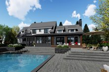 House Plan Design - Farmhouse Exterior - Rear Elevation Plan #51-1145