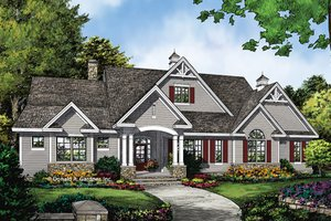 Ranch Exterior - Front Elevation Plan #929-1016