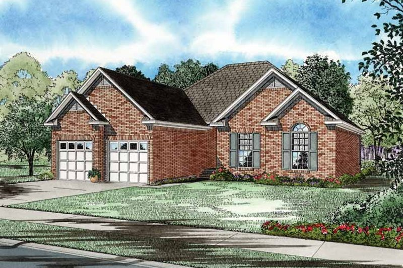 Dream House Plan - Traditional Exterior - Front Elevation Plan #17-2656
