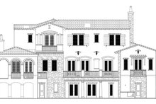 Home Plan - Mediterranean Exterior - Rear Elevation Plan #1058-85