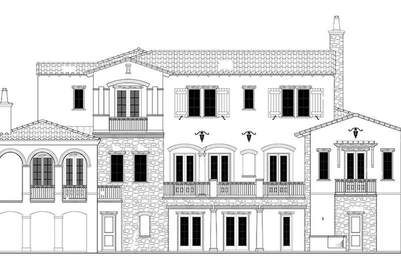 Mediterranean Exterior - Rear Elevation Plan #1058-85 - Houseplans.com