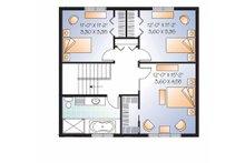 Traditional Floor Plan - Upper Floor Plan Plan #23-2506