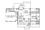 Country Style House Plan - 4 Beds 3 Baths 2566 Sq/Ft Plan #137-366 Floor Plan - Main Floor Plan