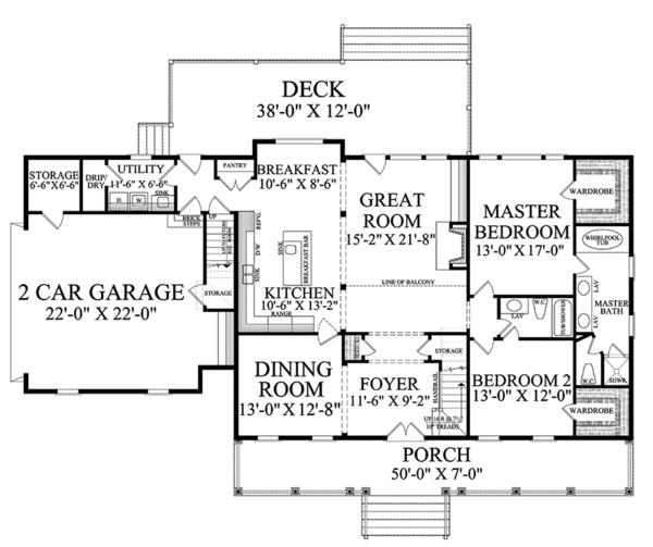 House Design - Country Floor Plan - Main Floor Plan #137-366