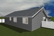 Ranch Style House Plan - 5 Beds 3.5 Baths 3056 Sq/Ft Plan #1060-16 Exterior - Rear Elevation