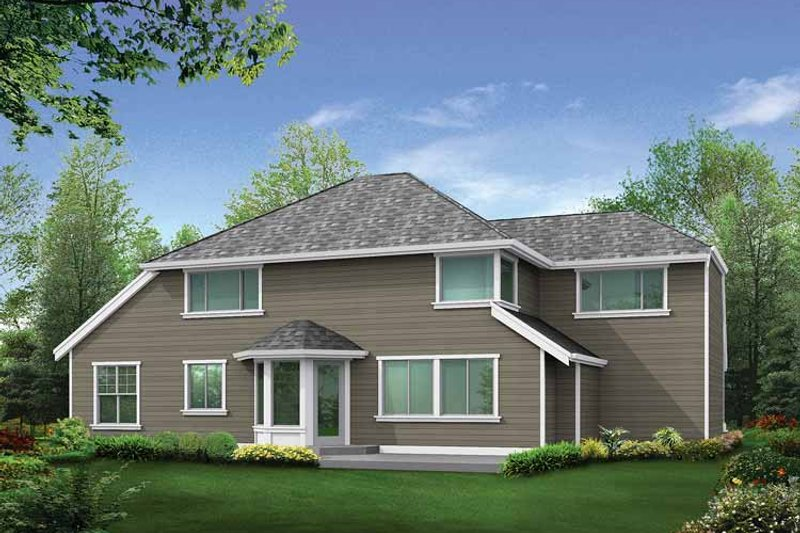 Colonial Exterior - Rear Elevation Plan #132-269 - Houseplans.com