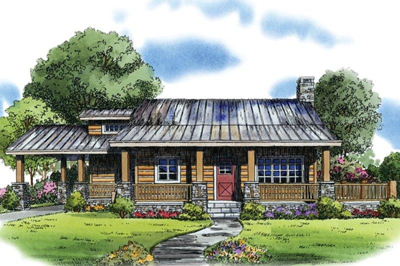 Cabin Exterior - Front Elevation Plan #942-22