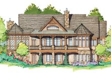 Architectural House Design - Craftsman Exterior - Rear Elevation Plan #929-931