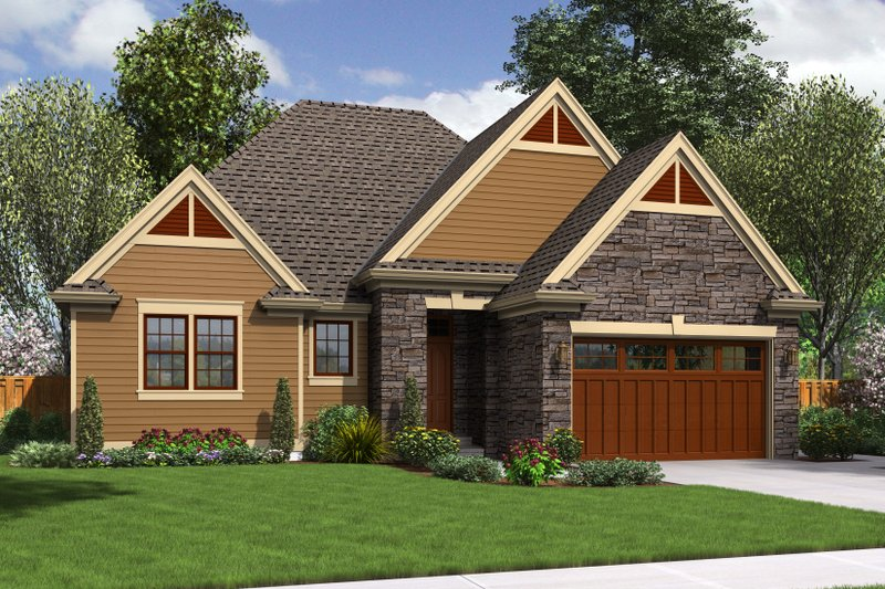 Traditional Exterior - Front Elevation Plan #48-596 - Houseplans.com