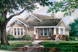 House Design - Craftsman Exterior - Front Elevation Plan #137-267