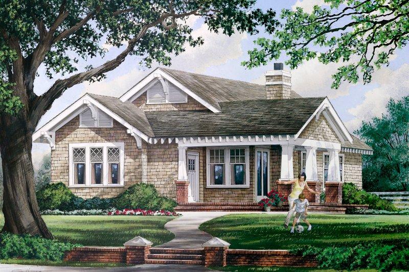 Craftsman Exterior - Front Elevation Plan #137-267