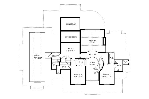 Craftsman Floor Plan - Upper Floor Plan Plan #920-111