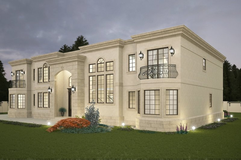 Classical Style House Plan - 5 Beds 7 Baths 6765 Sq/Ft Plan #1066-29 Exterior - Front Elevation