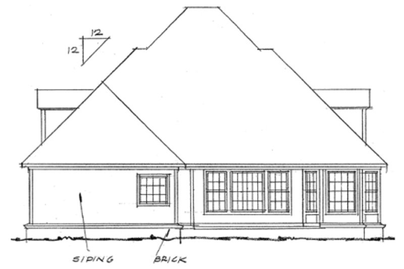 Farmhouse Exterior - Rear Elevation Plan #20-331 - Houseplans.com