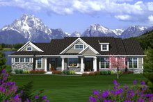 Home Plan - Traditional Exterior - Front Elevation Plan #70-1135