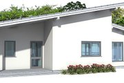 Modern Style House Plan - 3 Beds 2 Baths 1464 Sq/Ft Plan #537-24 Exterior - Front Elevation