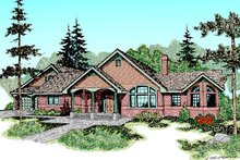 Country Exterior - Front Elevation Plan #60-223