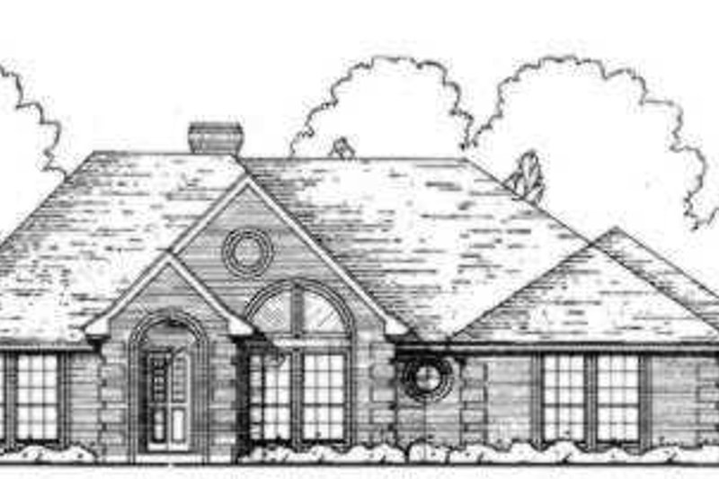 European Exterior - Front Elevation Plan #40-300 - Houseplans.com