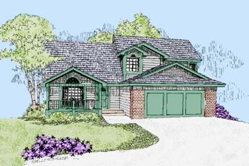 Traditional Exterior - Front Elevation Plan #60-462 - Houseplans.com