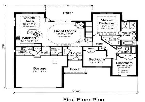 Traditional Floor Plan - Main Floor Plan #46-484