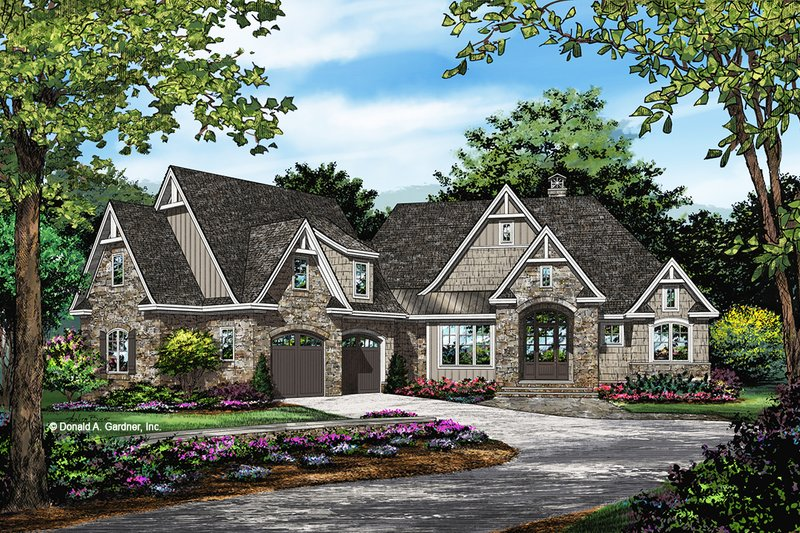 Dream House Plan - European Exterior - Front Elevation Plan #929-1065