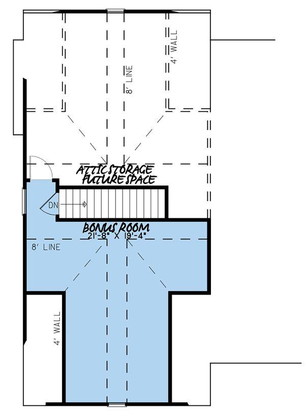 Country Floor Plan - Upper Floor Plan Plan #923-129